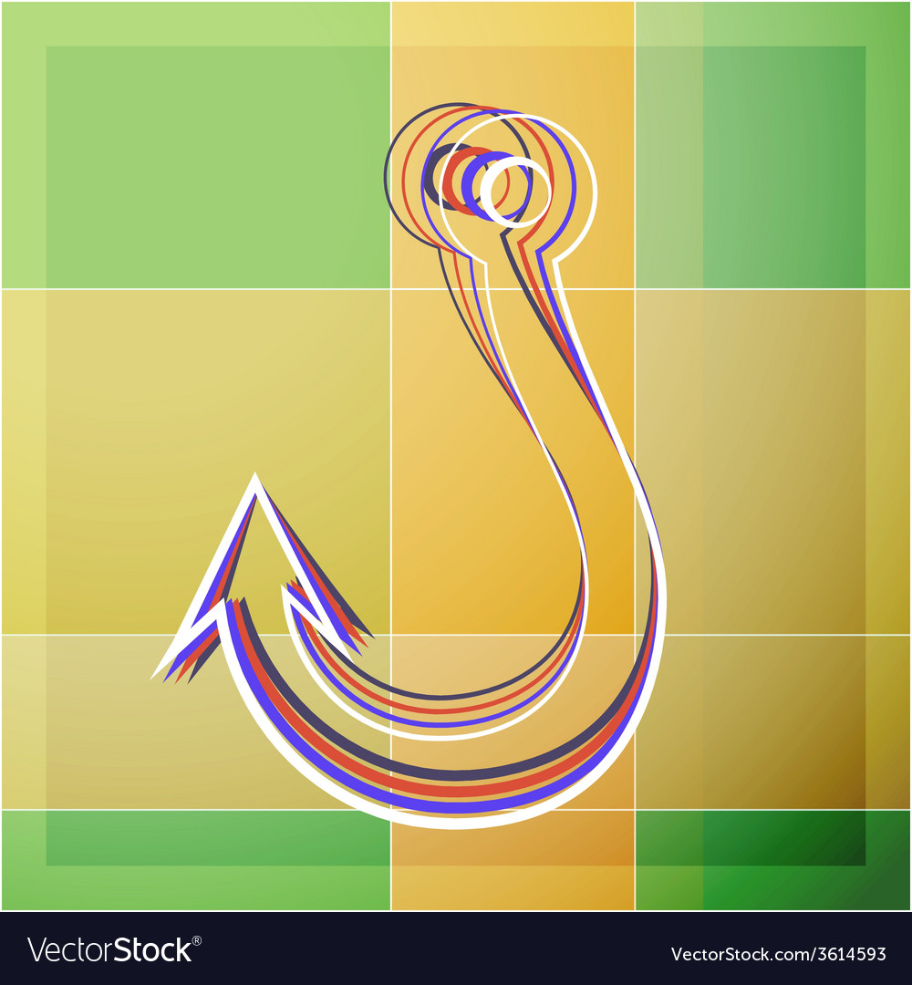 Abstract fishhook vector | Price: 1 Credit (USD $1)