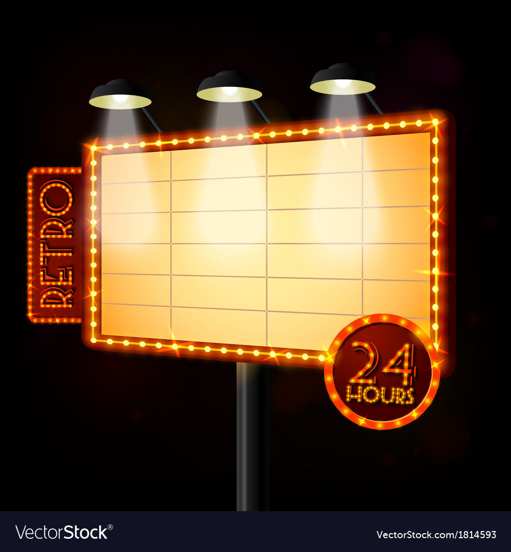 Blank illuminated billboard poster vector | Price: 1 Credit (USD $1)