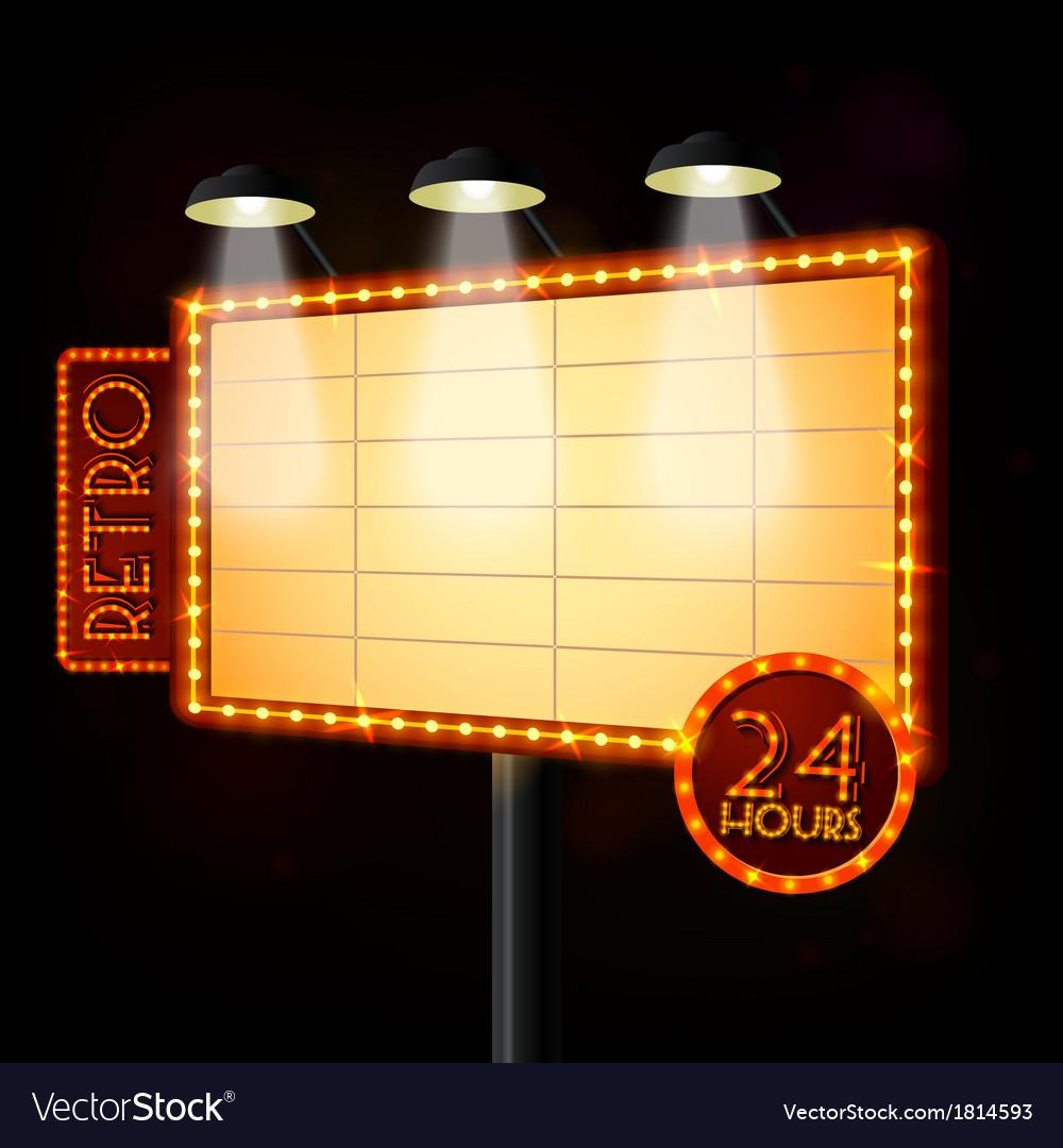 Blank illuminated billboard poster vector | Price: 1 Credit (USD $1)