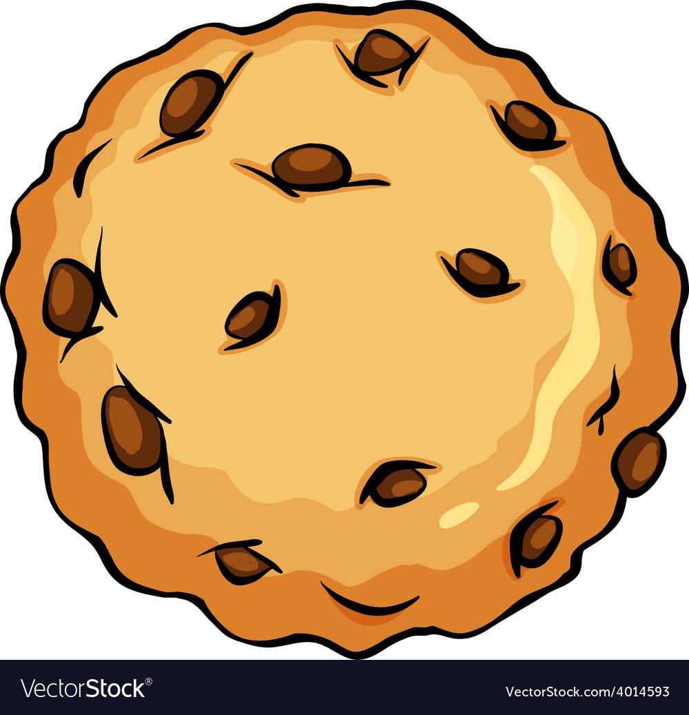 Crunchy brown cookie vector | Price: 3 Credit (USD $3)