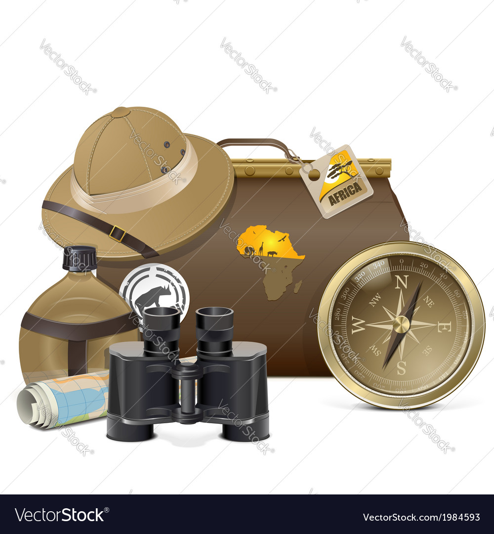 Safari accessories concept vector | Price: 3 Credit (USD $3)