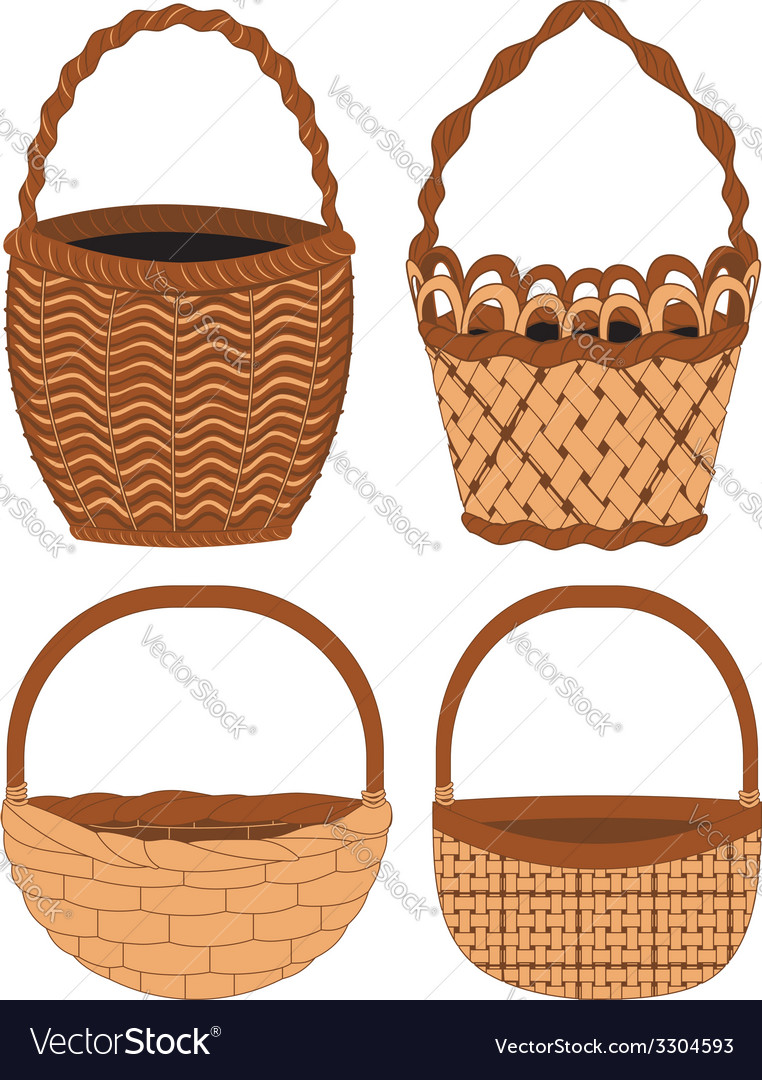 Set of baskets vector | Price: 1 Credit (USD $1)