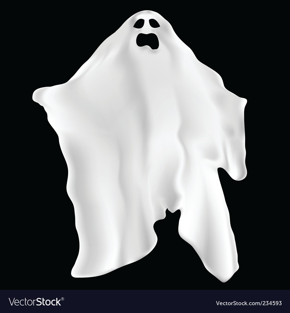 Spooky ghost vector | Price: 1 Credit (USD $1)