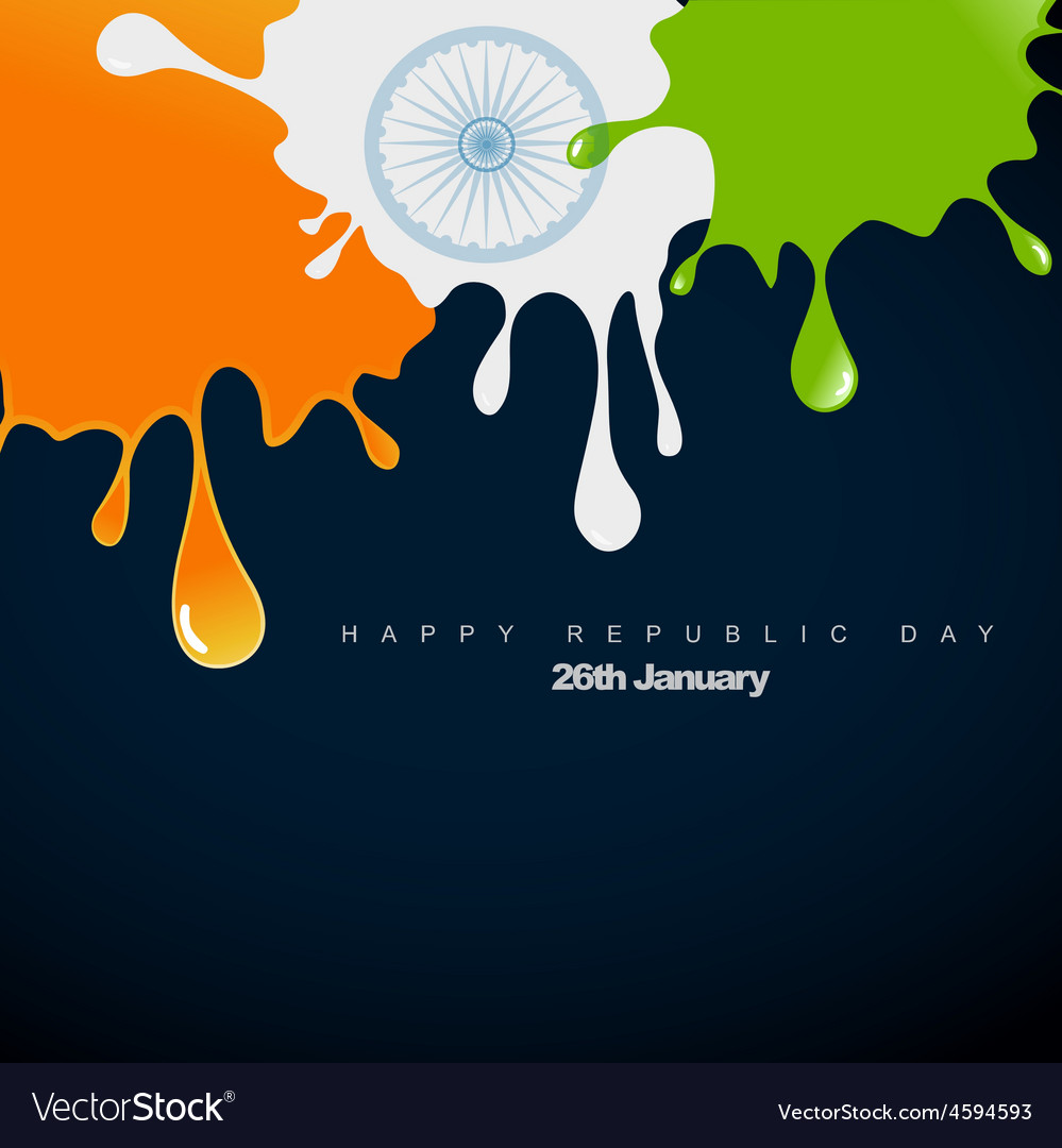Style indian flag vector