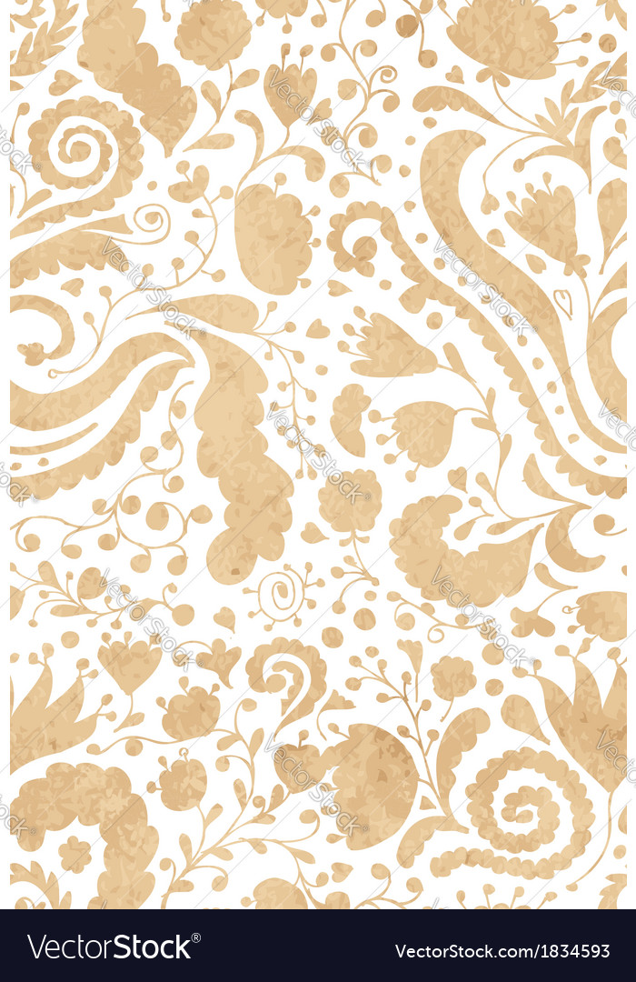 Vintage floral seamless pattern for your design vector | Price: 1 Credit (USD $1)