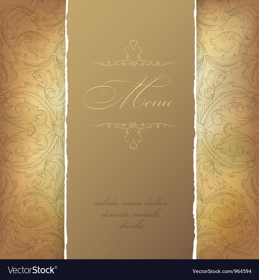 Aged menu template vector | Price: 1 Credit (USD $1)
