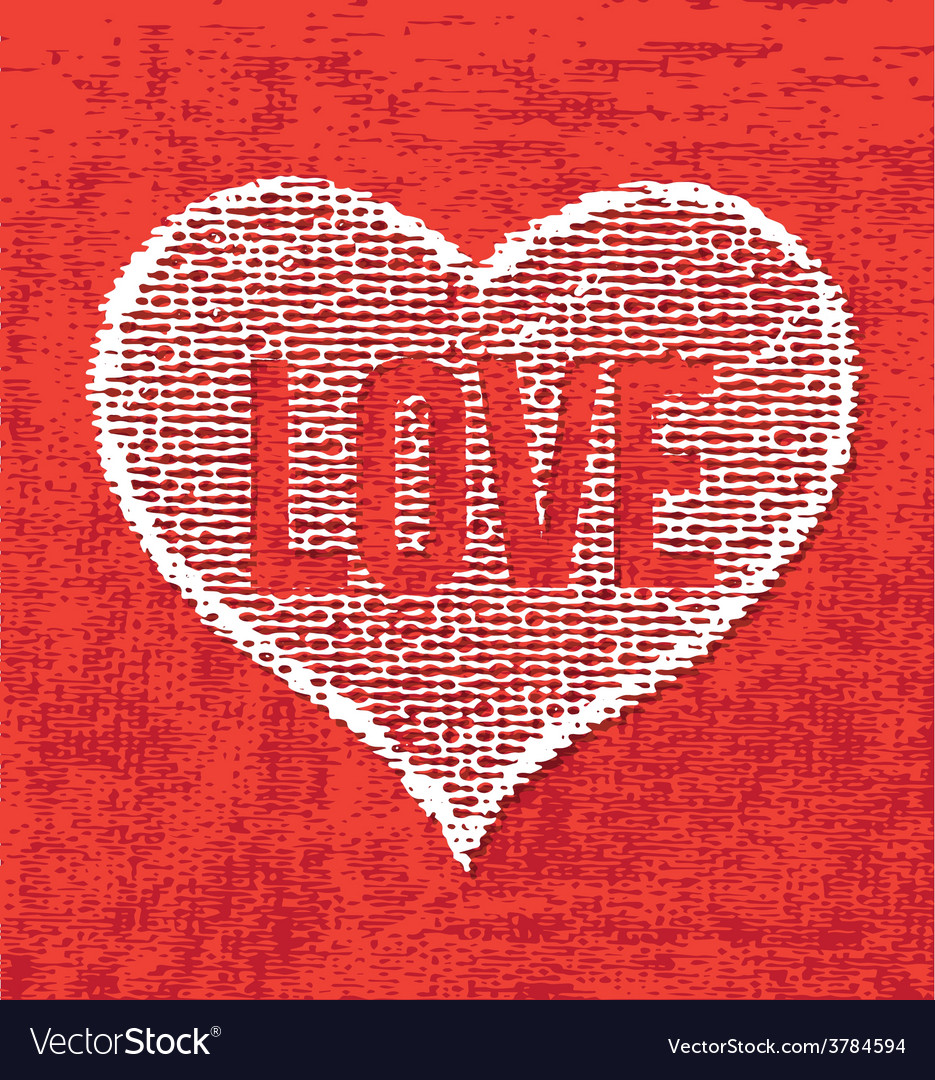Art heart drawing on canvas vector | Price: 1 Credit (USD $1)
