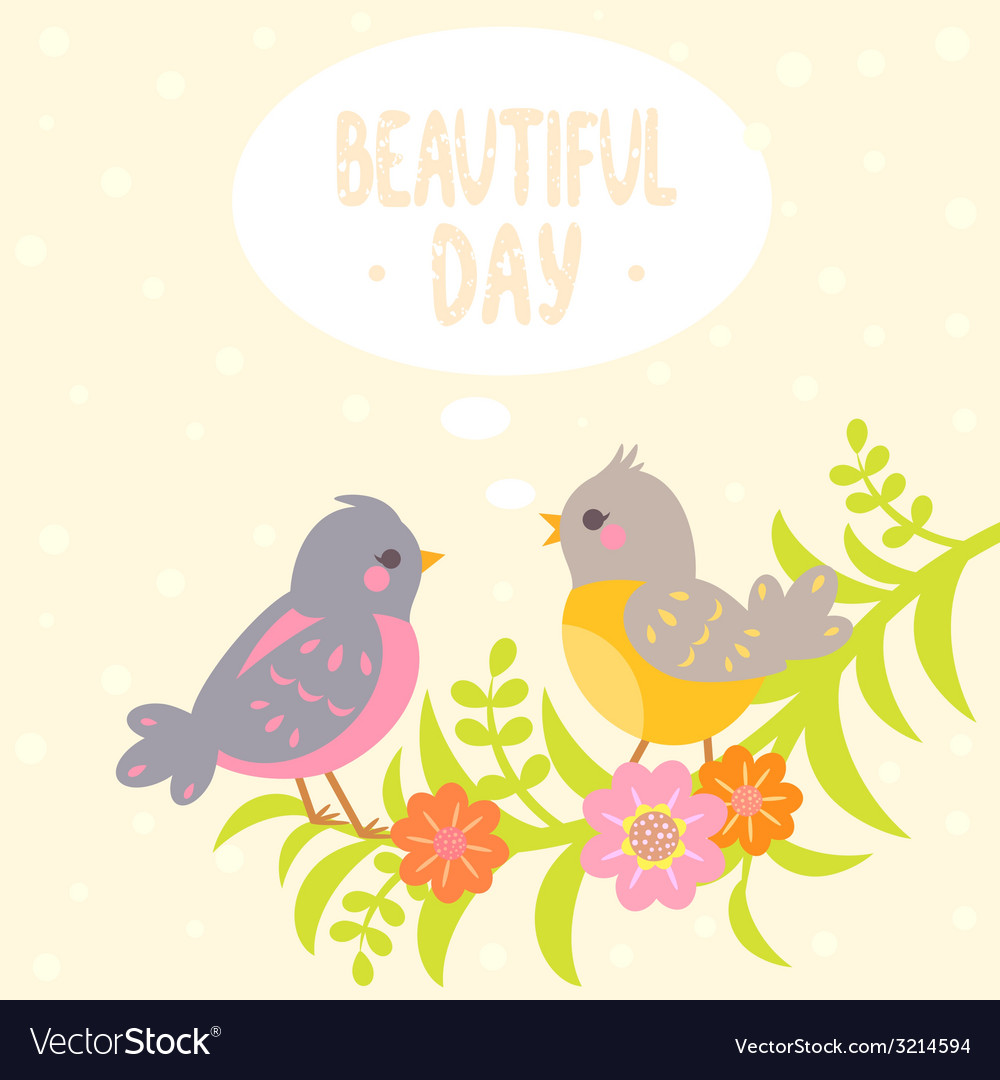 Birds flat vector | Price: 1 Credit (USD $1)