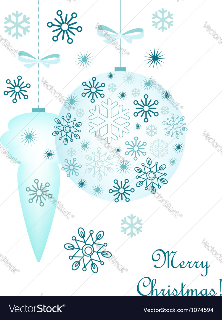 Christmas decorative background vector | Price:  Credit (USD $)