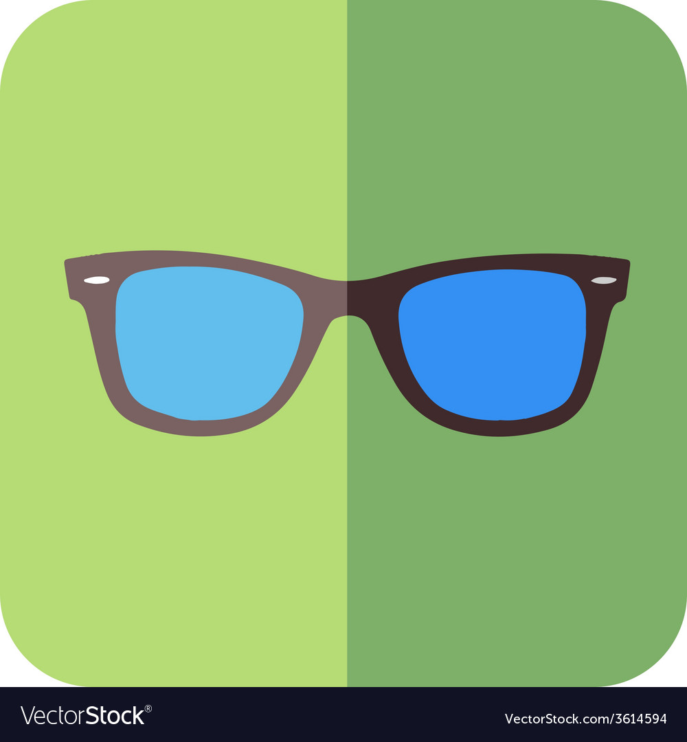 Glasses in flat design vector | Price: 1 Credit (USD $1)