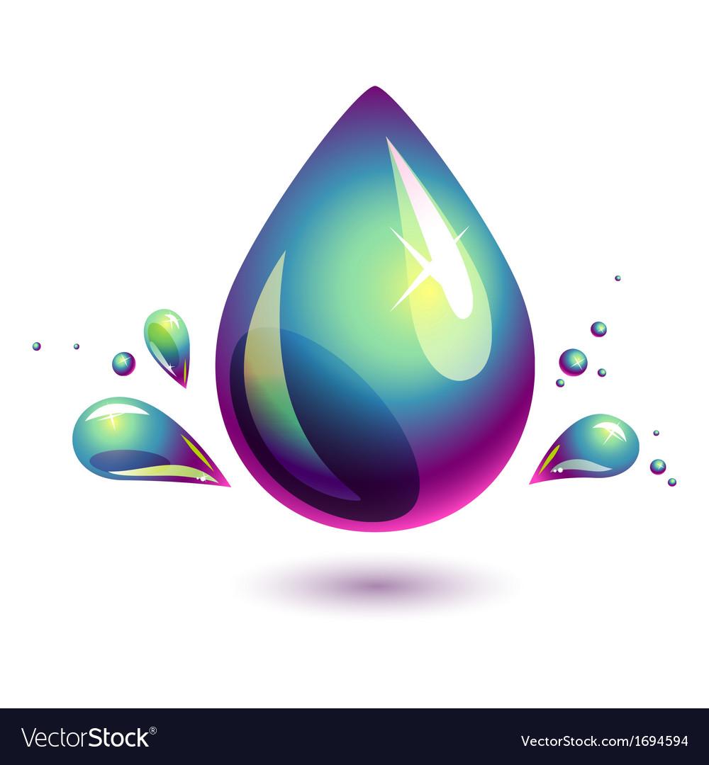 Petroleum drop vector | Price: 1 Credit (USD $1)
