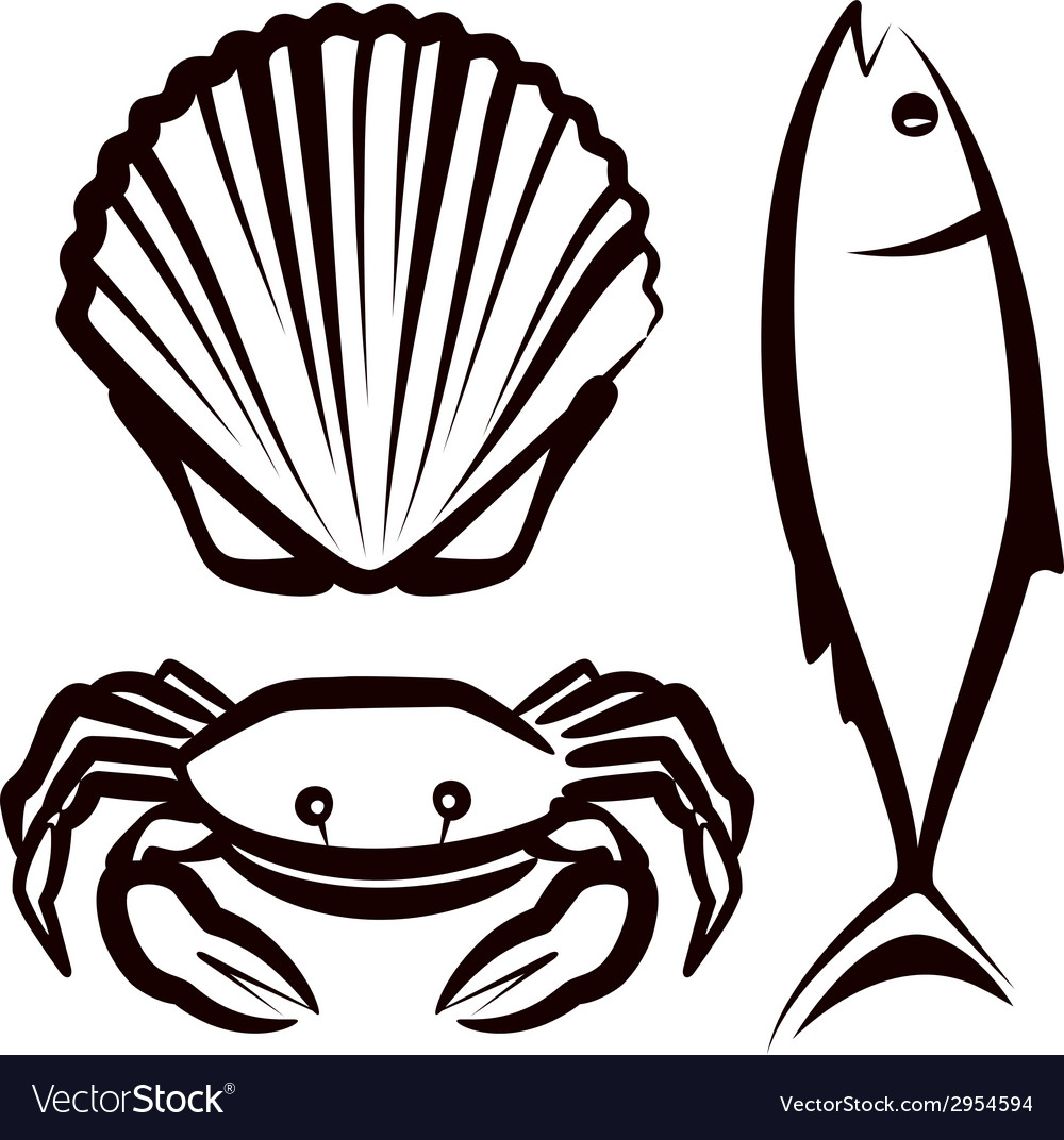Simple with seafood vector | Price: 1 Credit (USD $1)
