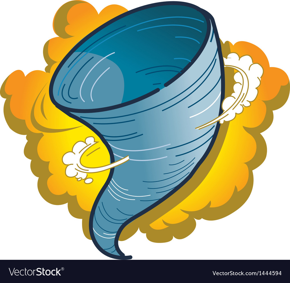Tornado hurricane spout vector | Price: 1 Credit (USD $1)