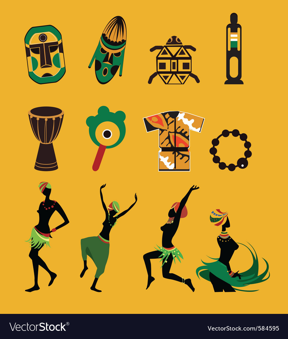 African icons vector | Price: 1 Credit (USD $1)
