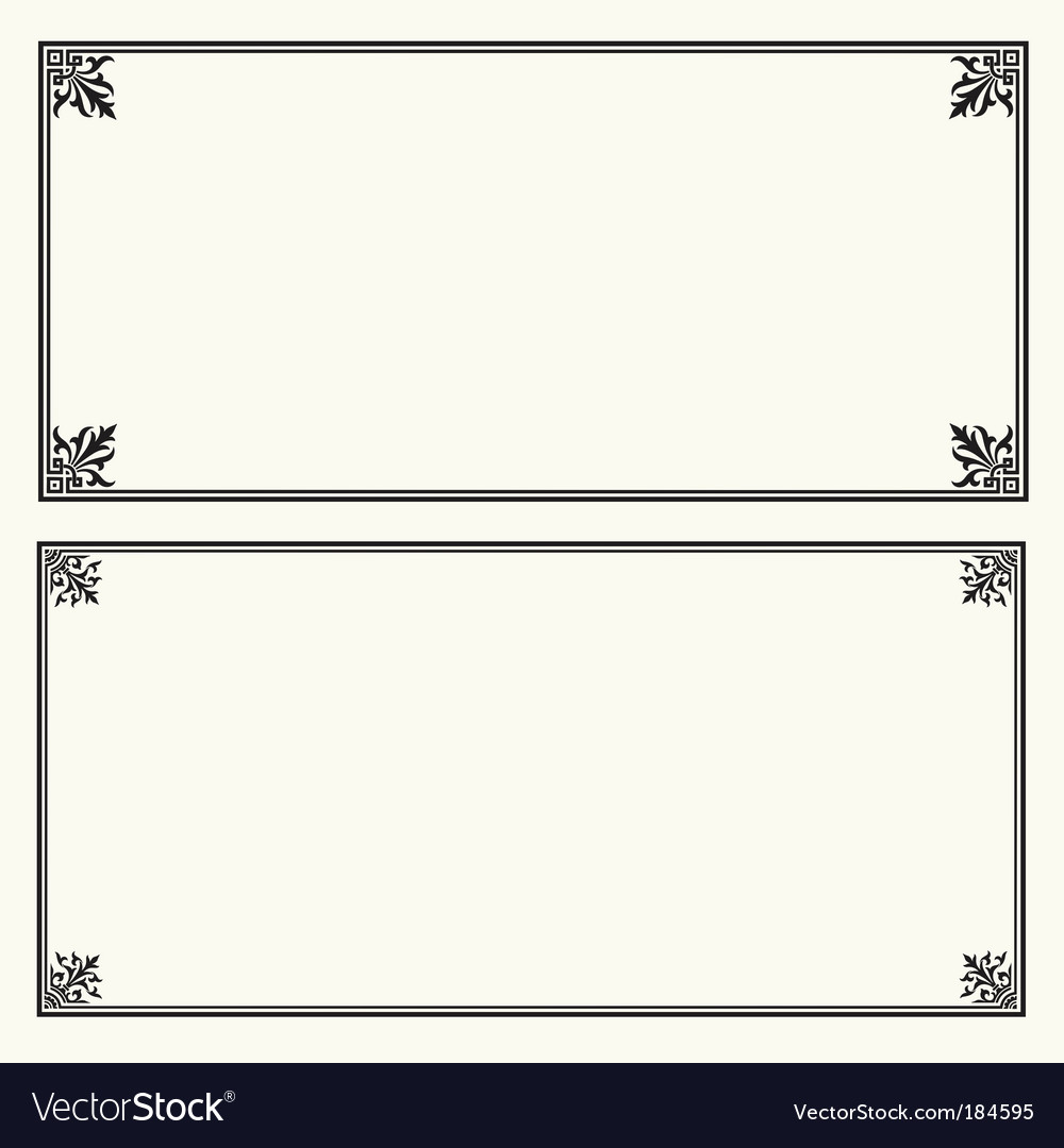 Certificate frame square vector | Price: 1 Credit (USD $1)
