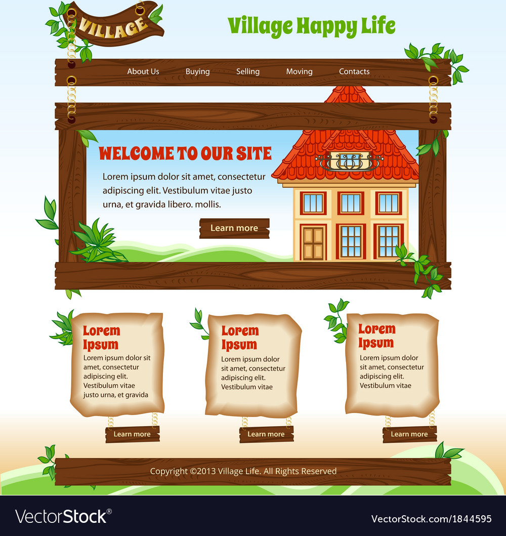 Country web template vector | Price: 1 Credit (USD $1)