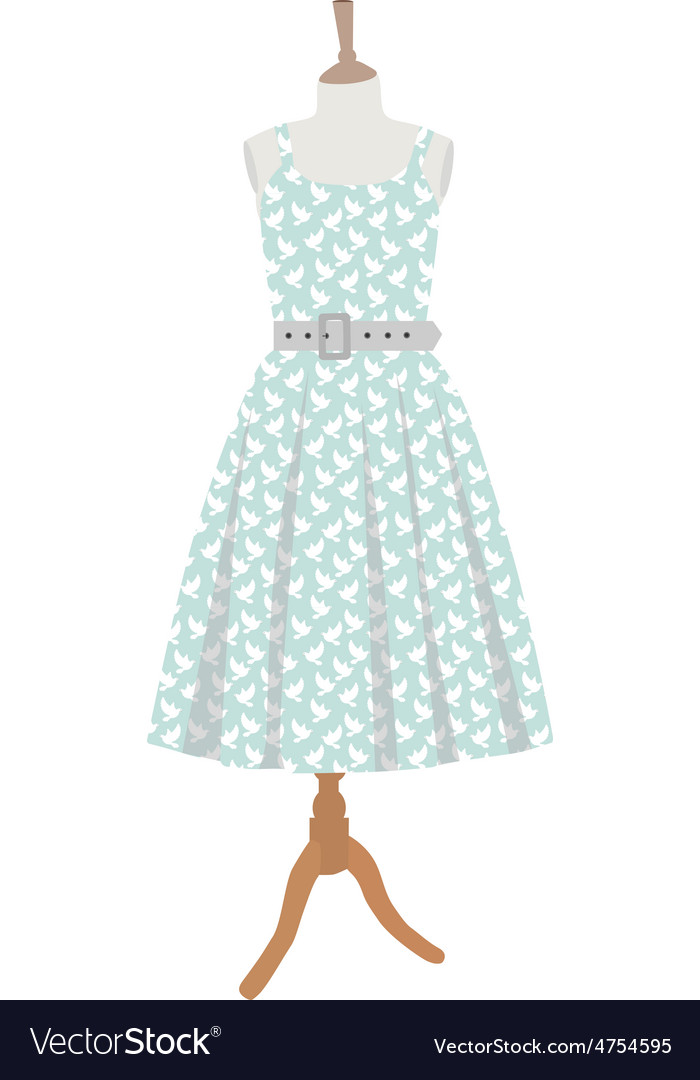 Dress on mannequin vector | Price: 1 Credit (USD $1)