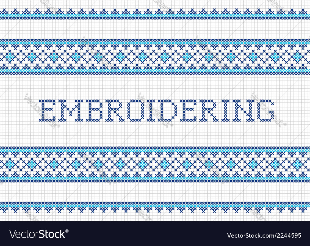 Embroidering vector | Price: 1 Credit (USD $1)