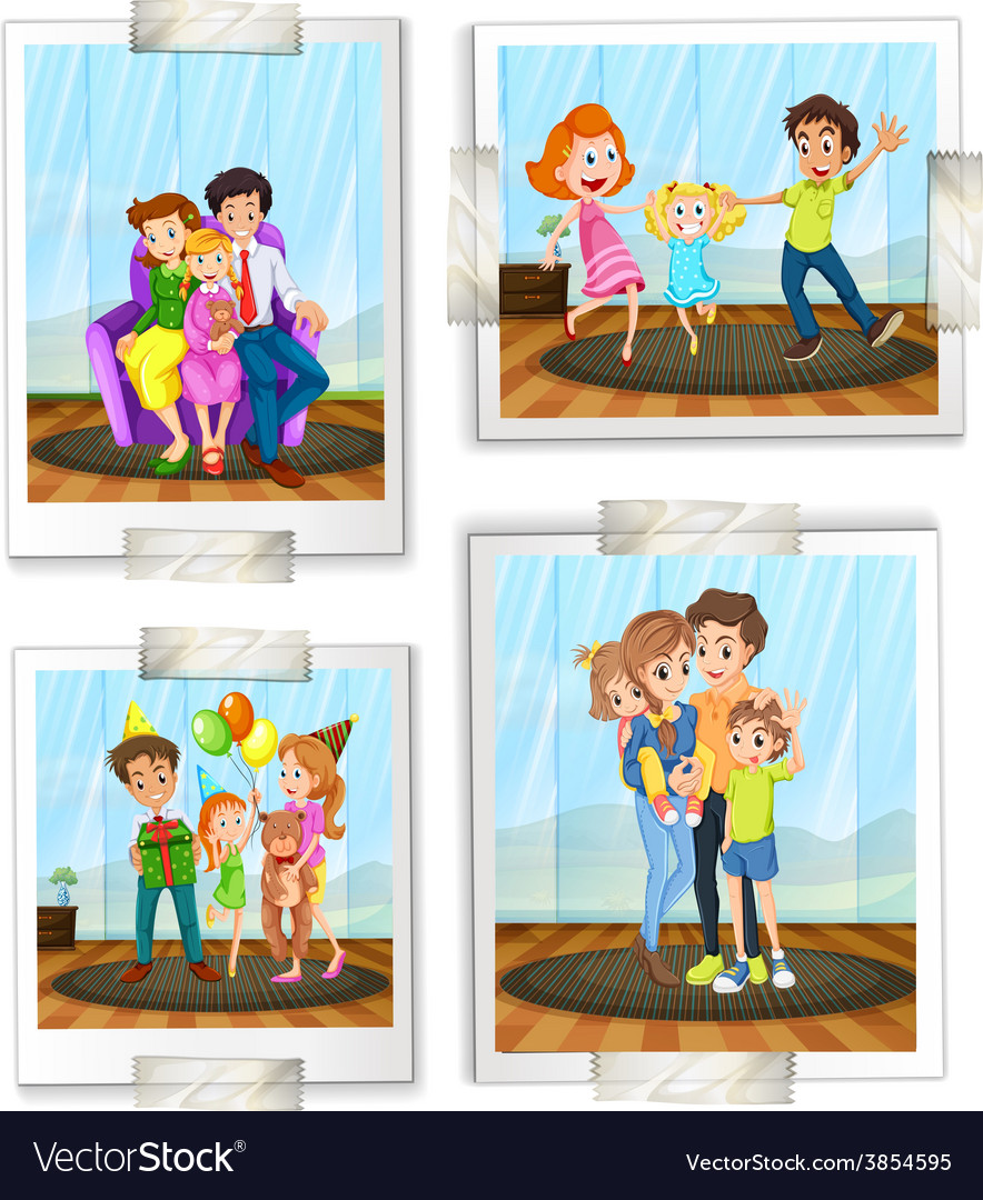 Family photos vector | Price: 1 Credit (USD $1)