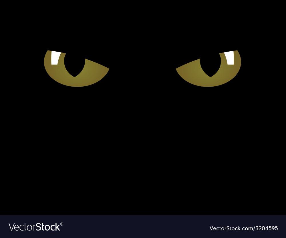 Feline eyes vector | Price: 1 Credit (USD $1)