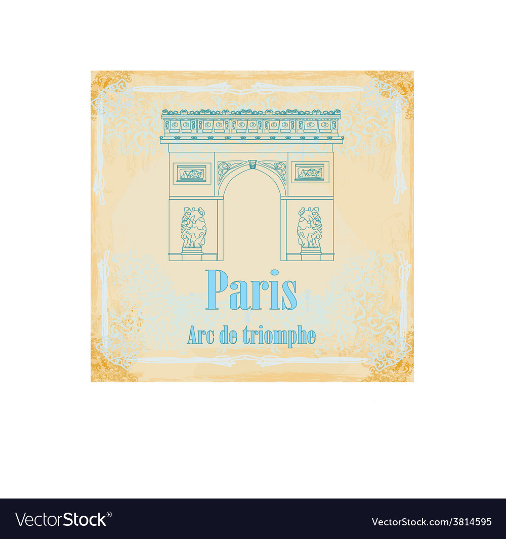 Hand drawn of paris triumph arc - grunge b vector | Price: 1 Credit (USD $1)