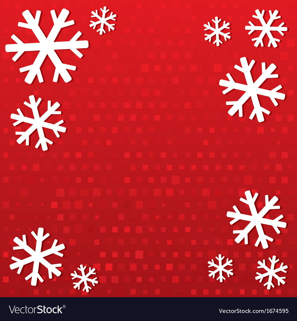 Merry christmas background with snowflakes vector | Price: 1 Credit (USD $1)