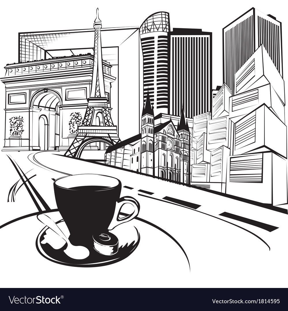Sketch trip to france vector | Price: 1 Credit (USD $1)