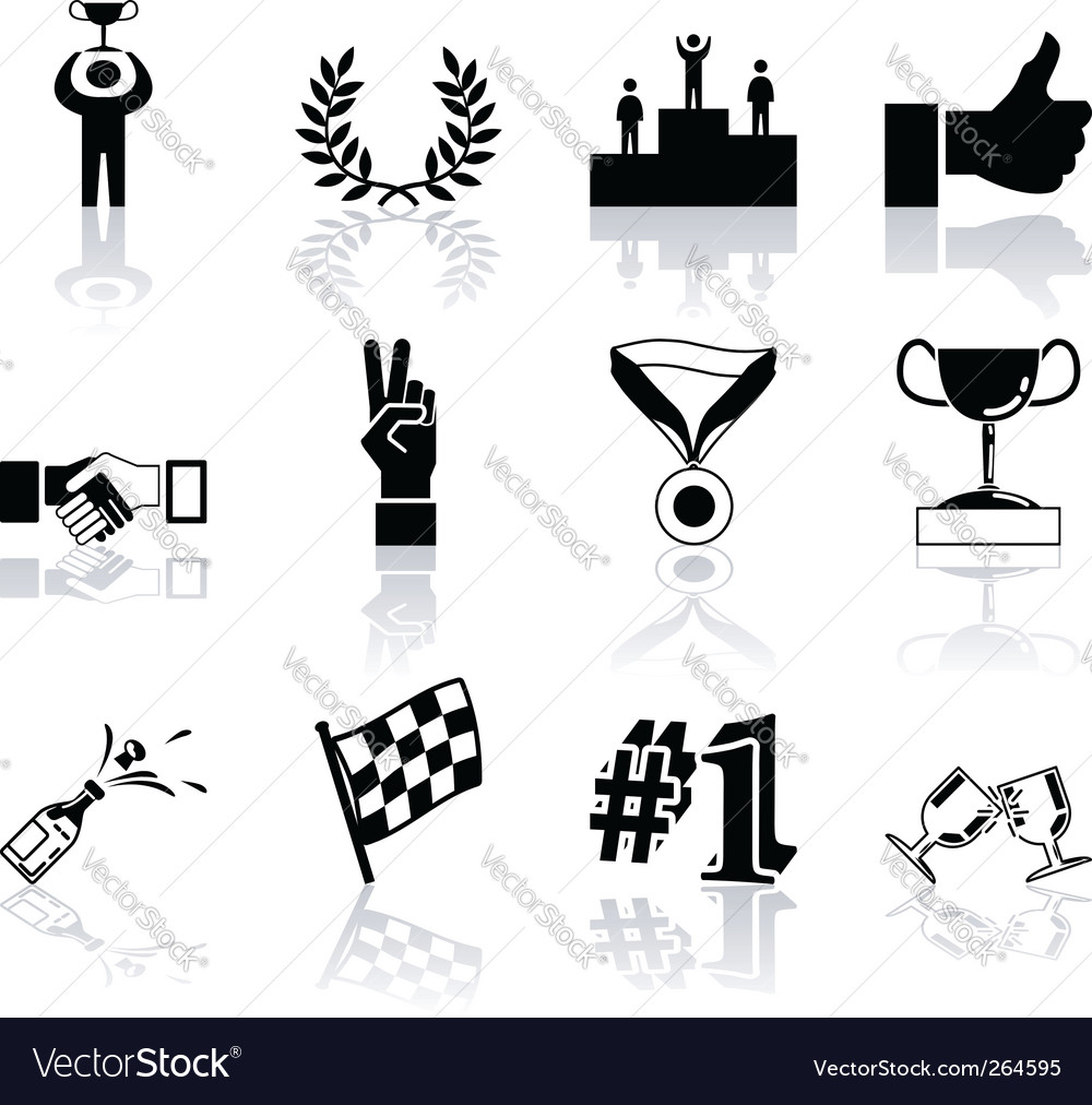 Success icons vector | Price: 1 Credit (USD $1)