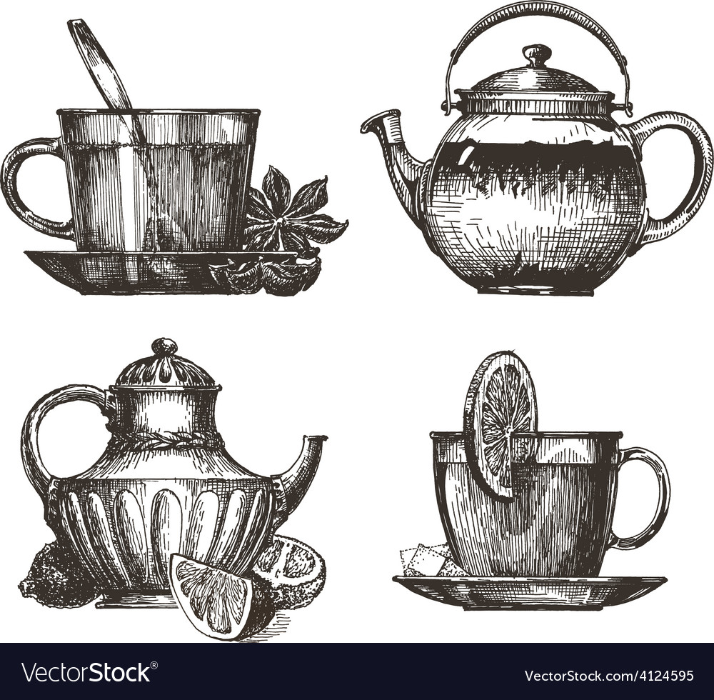 Tea party logo design template drink or vector | Price: 3 Credit (USD $3)