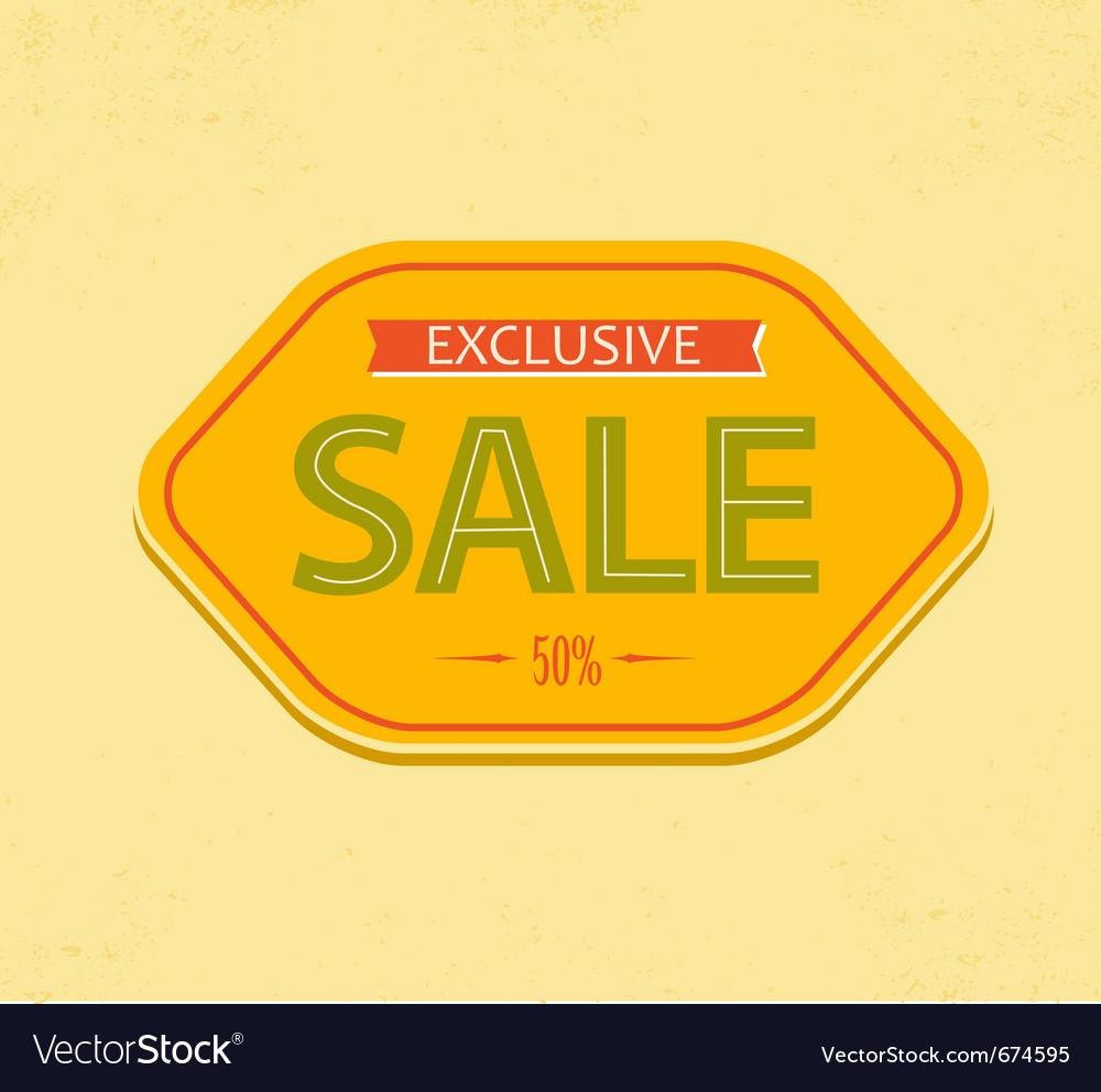 Vintage sale label vector   Price: 1 Credit (USD $1)