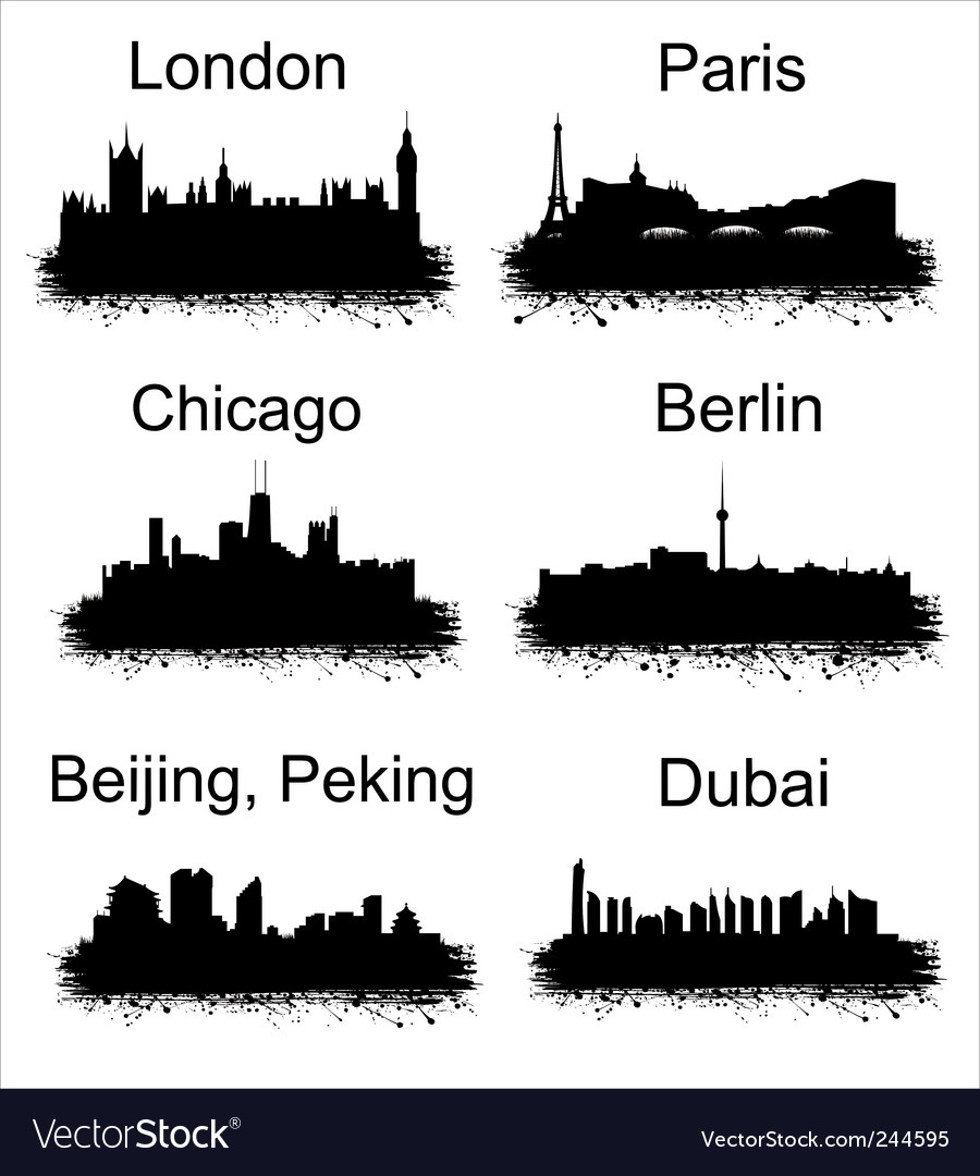 World cities vector | Price: 1 Credit (USD $1)