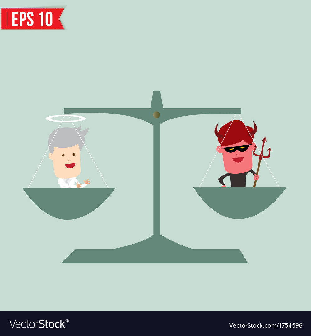 Balance of good and bad concept - - eps10 vector | Price: 1 Credit (USD $1)