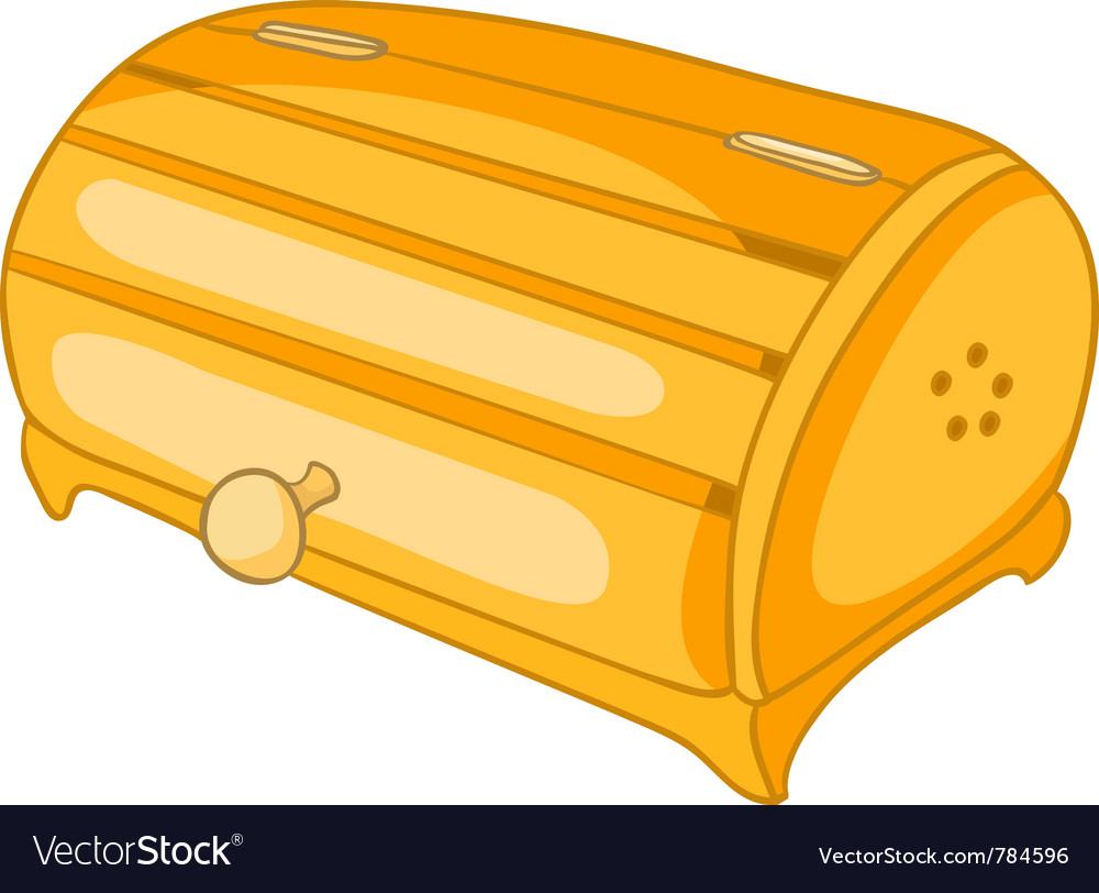 Cartoon home kitchen bread bin vector | Price: 1 Credit (USD $1)