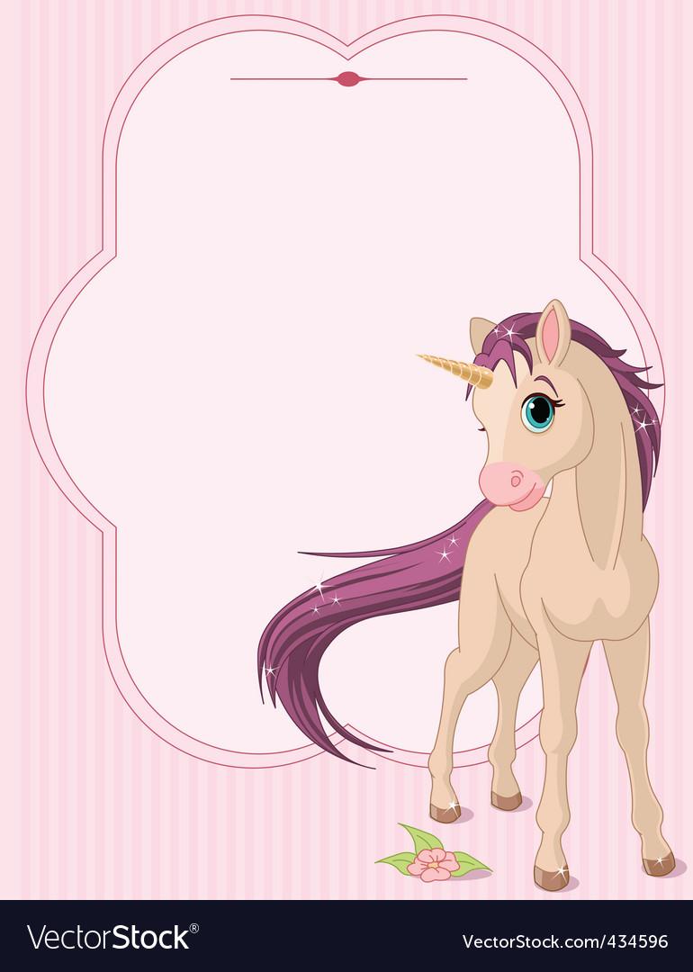 Cartoon unicorn vector | Price: 3 Credit (USD $3)