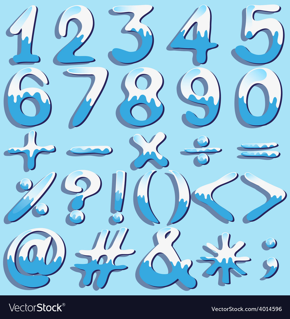 Colored numbers and symbols vector | Price: 1 Credit (USD $1)
