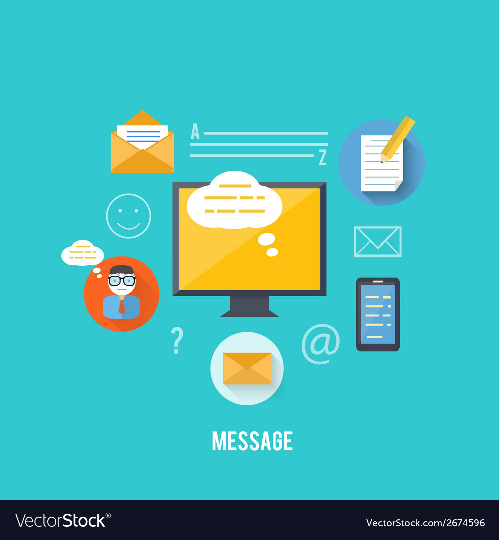 Concept of message and email technology vector | Price: 1 Credit (USD $1)