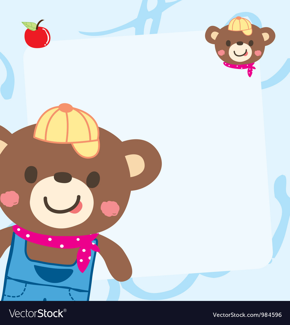 Cute bear memo vector | Price: 1 Credit (USD $1)