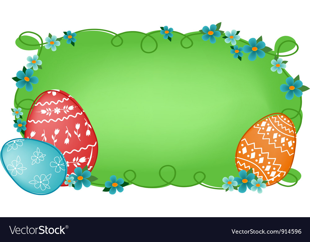 Easter banner with text field vector | Price: 1 Credit (USD $1)