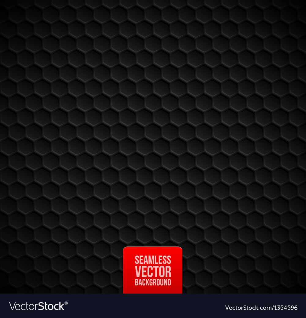 Hexagons seamless black background vector | Price: 1 Credit (USD $1)