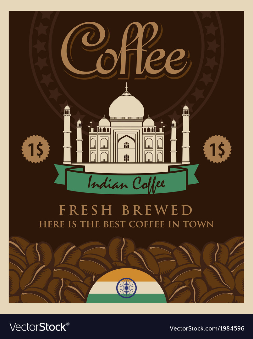 Indian coffee vector | Price: 1 Credit (USD $1)