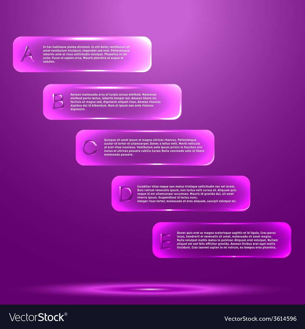 Infographic with glass objects vector | Price: 1 Credit (USD $1)