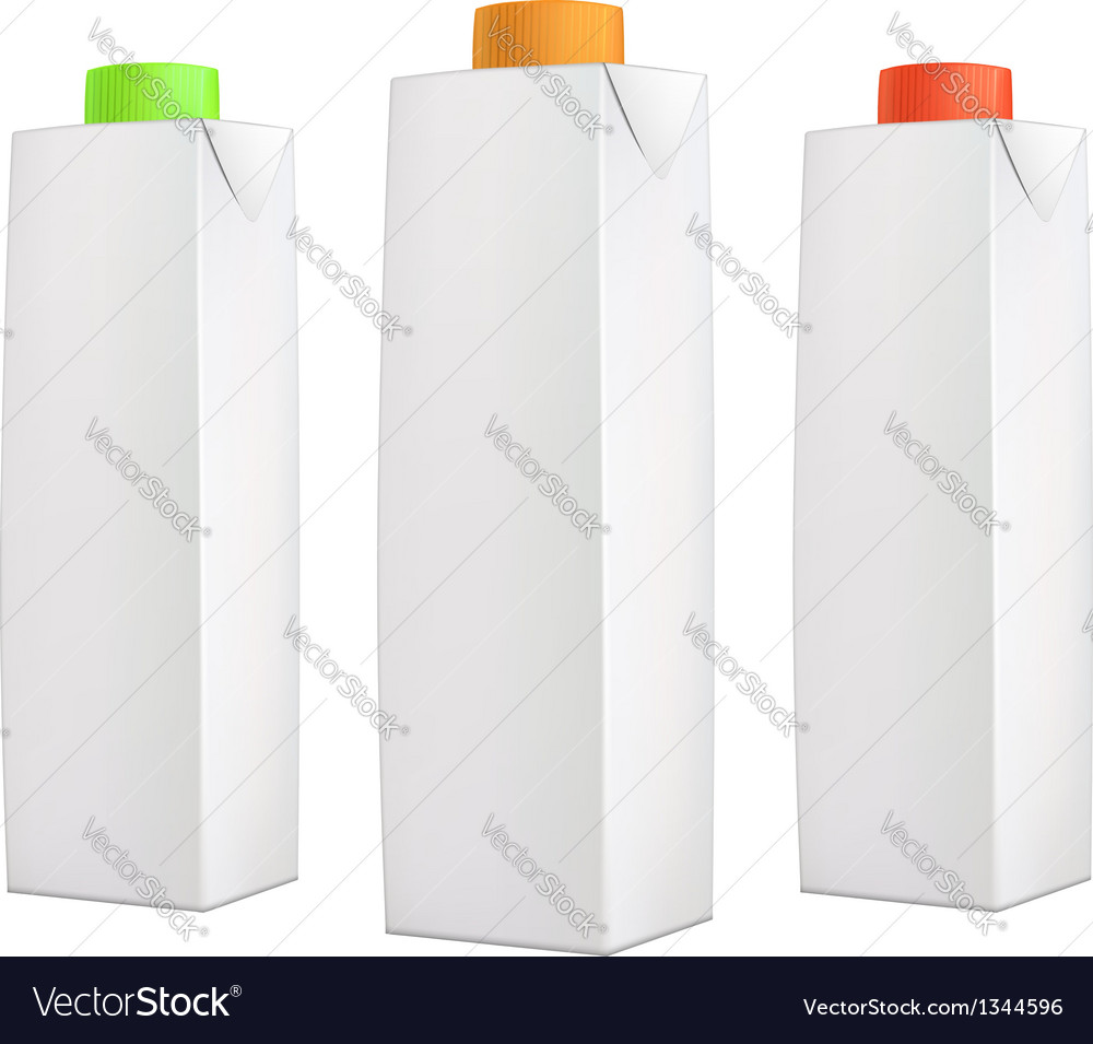 Juice packs with color lids vector | Price: 1 Credit (USD $1)