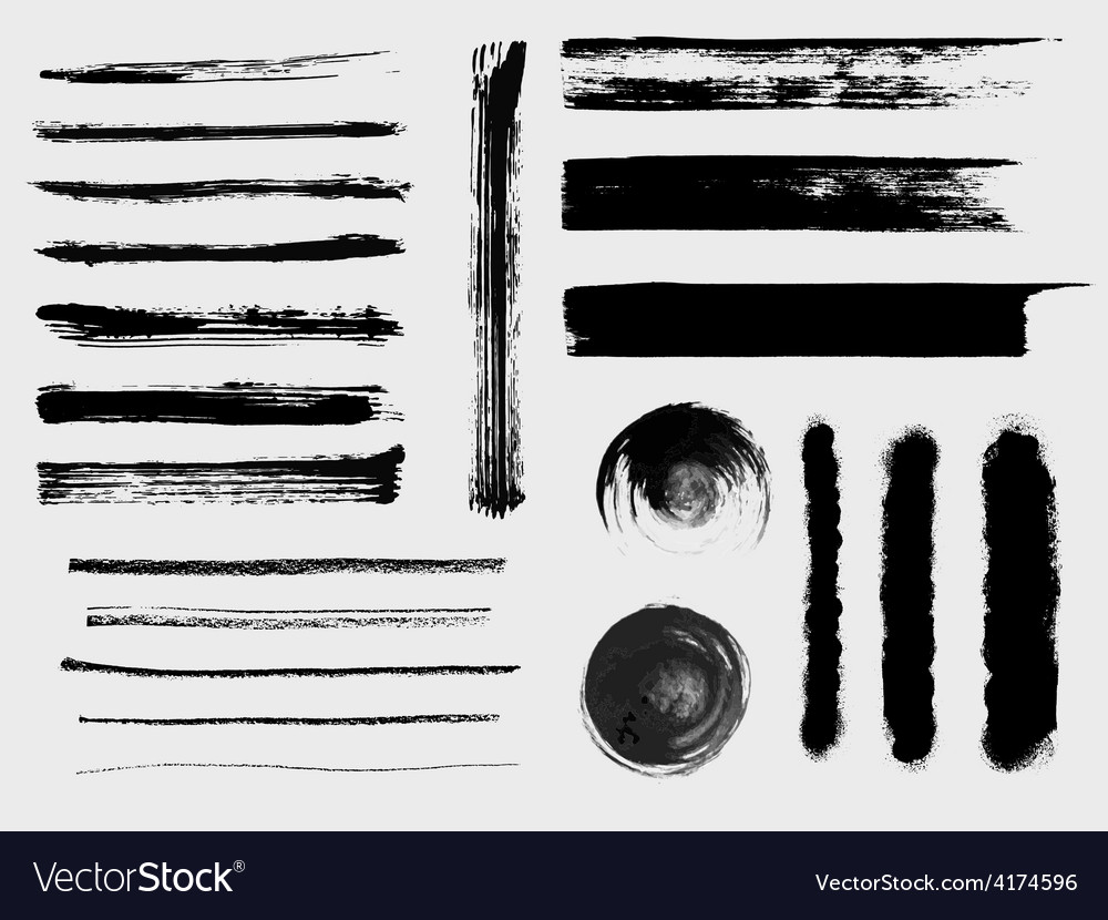 Set of grungy brushes and textures vector | Price: 1 Credit (USD $1)