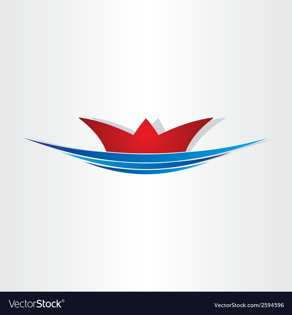 Ship on sea sailing symbol vector | Price: 1 Credit (USD $1)