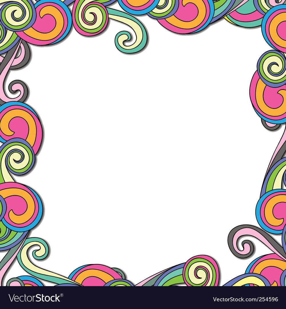 Swirl retro frame vector | Price: 1 Credit (USD $1)