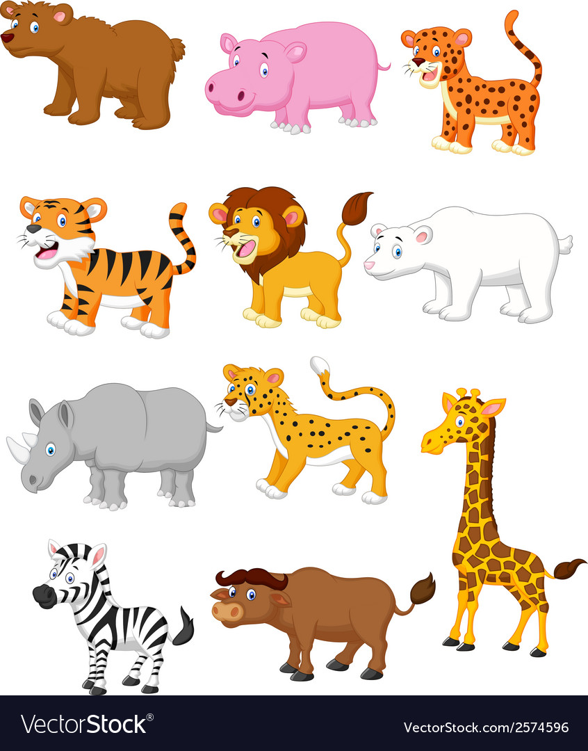 Wild animal cartoon vector | Price: 1 Credit (USD $1)