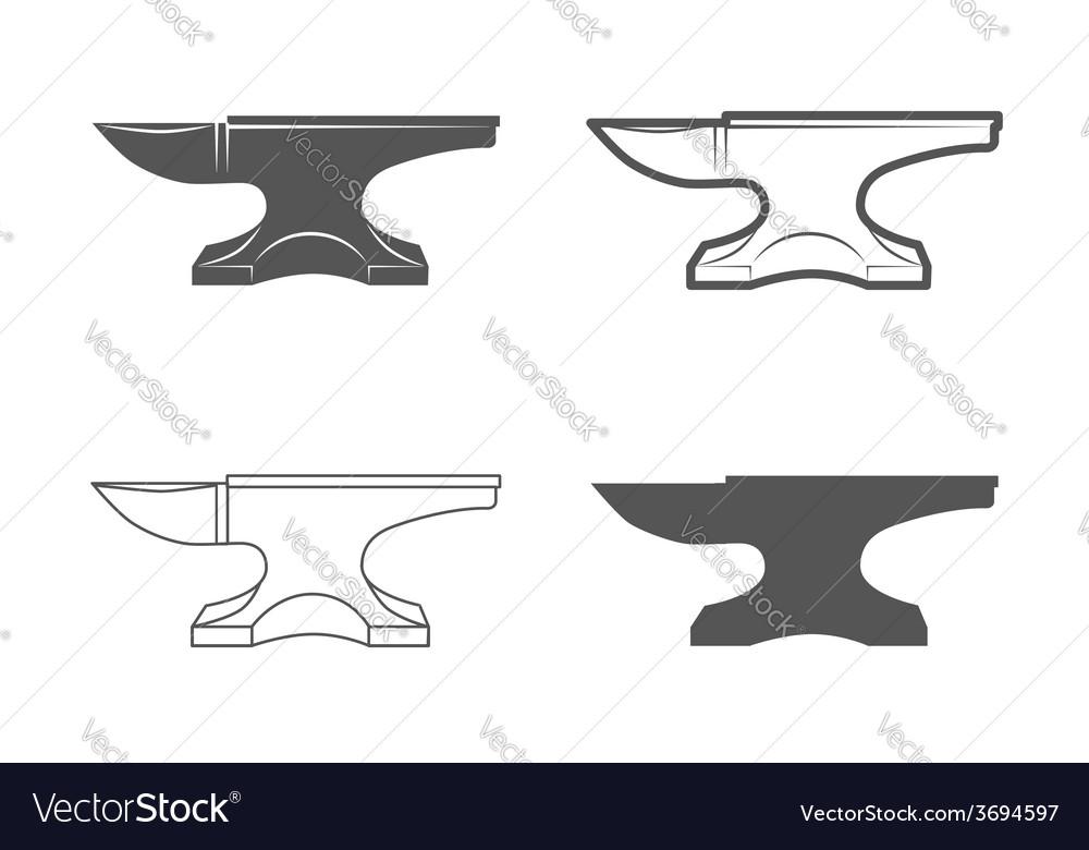 Anvil blacksmith equipment vector | Price: 1 Credit (USD $1)
