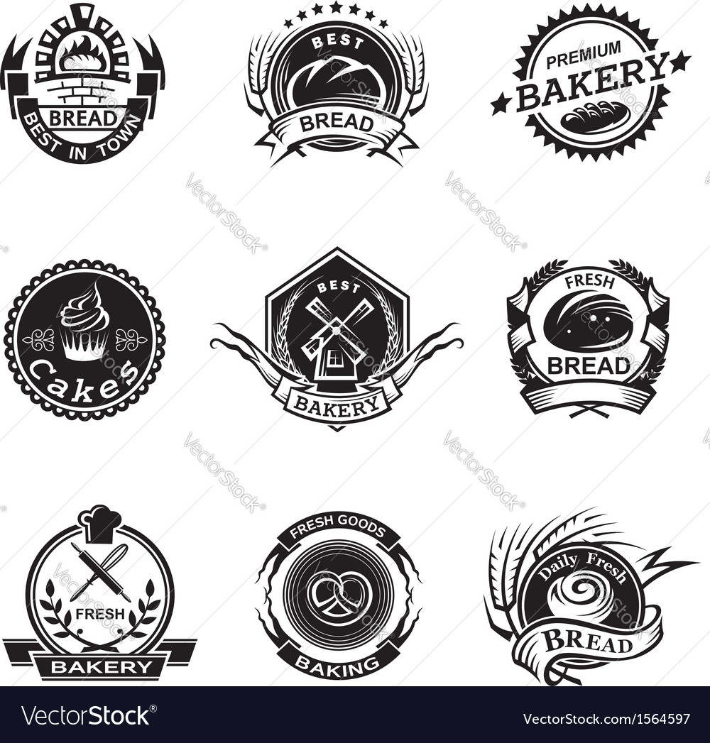 Bakery labels set vector | Price: 1 Credit (USD $1)
