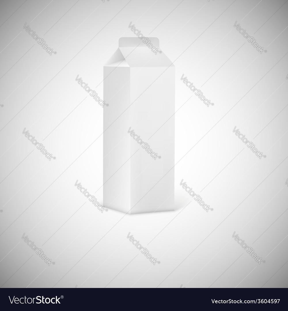 Blank grey juice or milk packaging vector | Price: 1 Credit (USD $1)