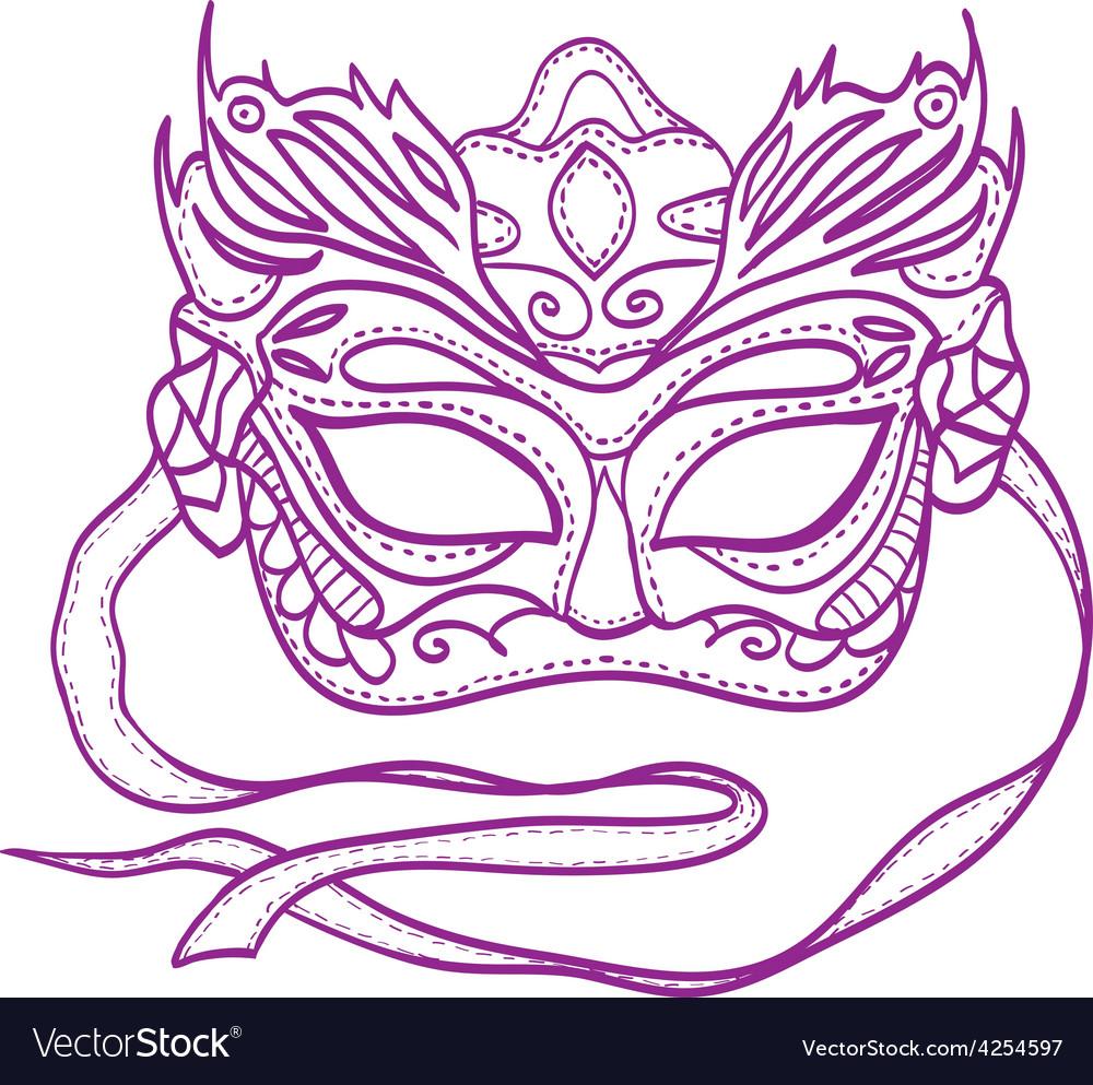 Carnival mask vector   Price: 1 Credit (USD $1)